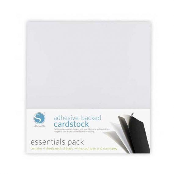 silhouette adhesive-backed cardstock essentials pack