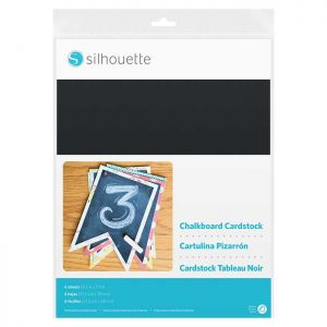 Silhouette Adhesive-Backed Chalkboard Cardstock