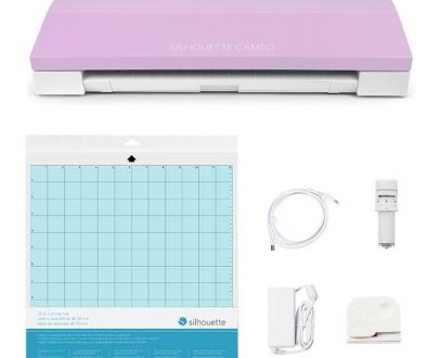 Silhouette Cameo® 3 lavender all contents