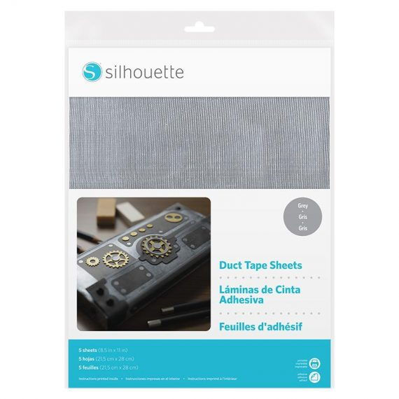 silhouette duct tape sheets - grey