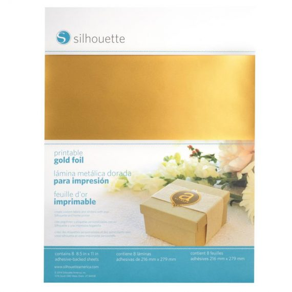 silhouette printable sticker foil - gold