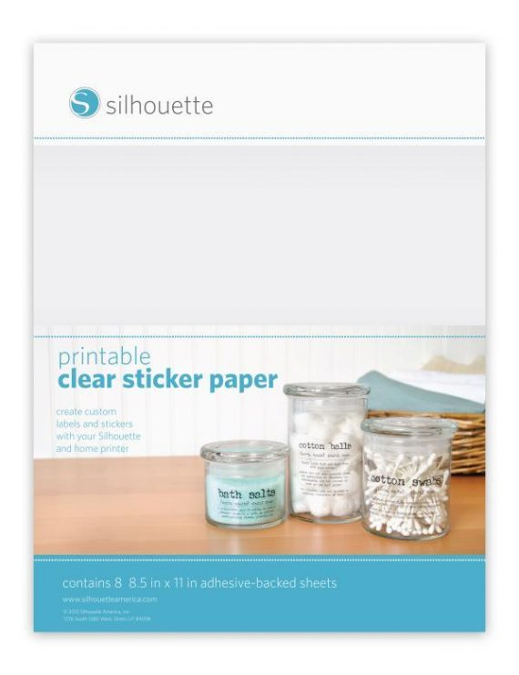 silhouette printable sticker paper - clear