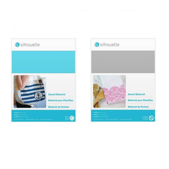 silhouette stencil material sheets - all main