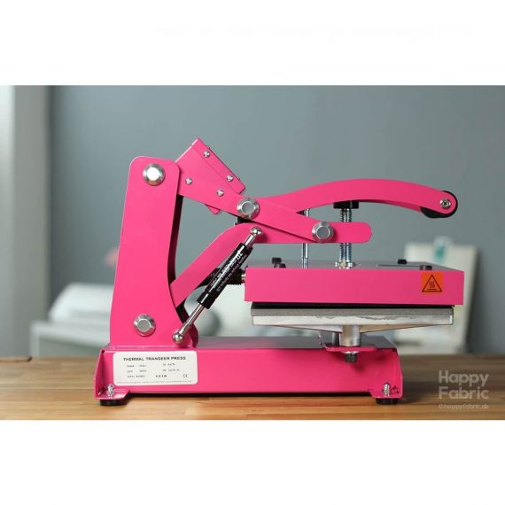 happy fabric happy press 3 - pink - side closed