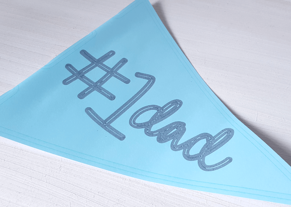 silhouette uk blog - verity biddlecombe - fathers day pennant - complete 2