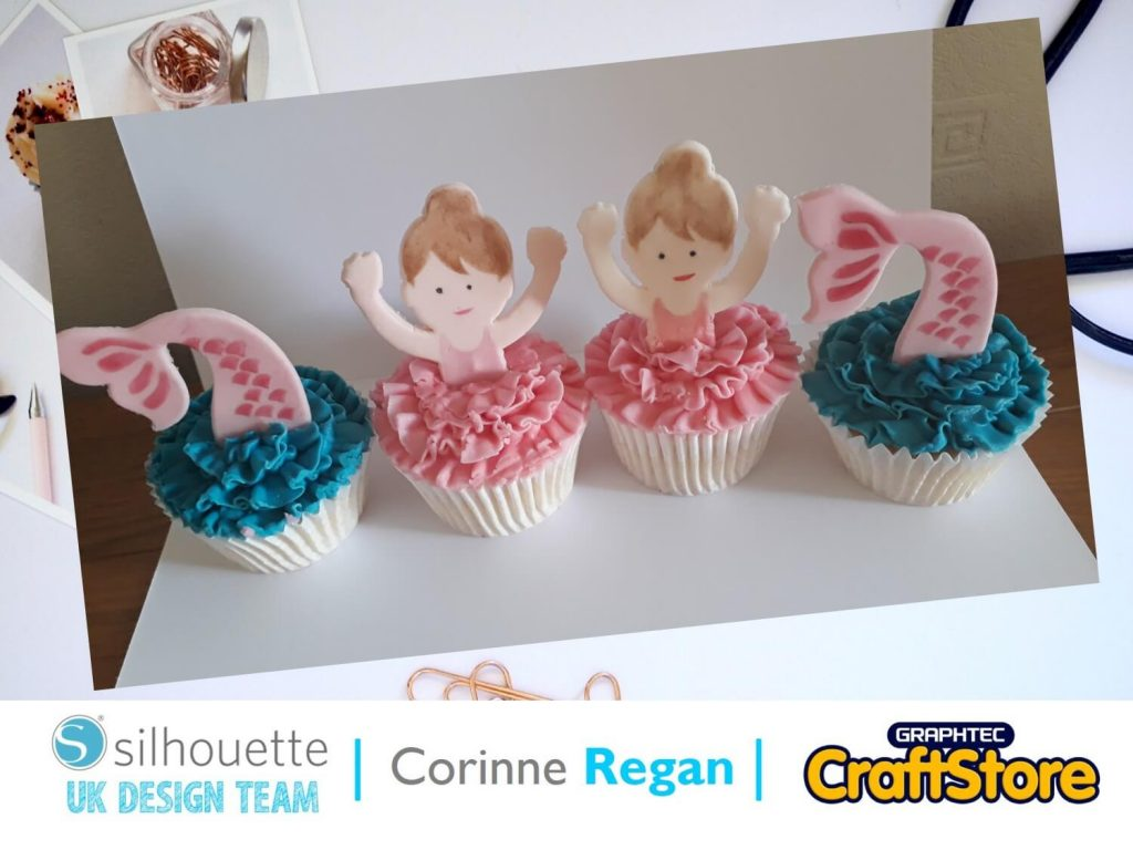 silhouette uk blog - corinne regan - mermaid cupcake toppers - main