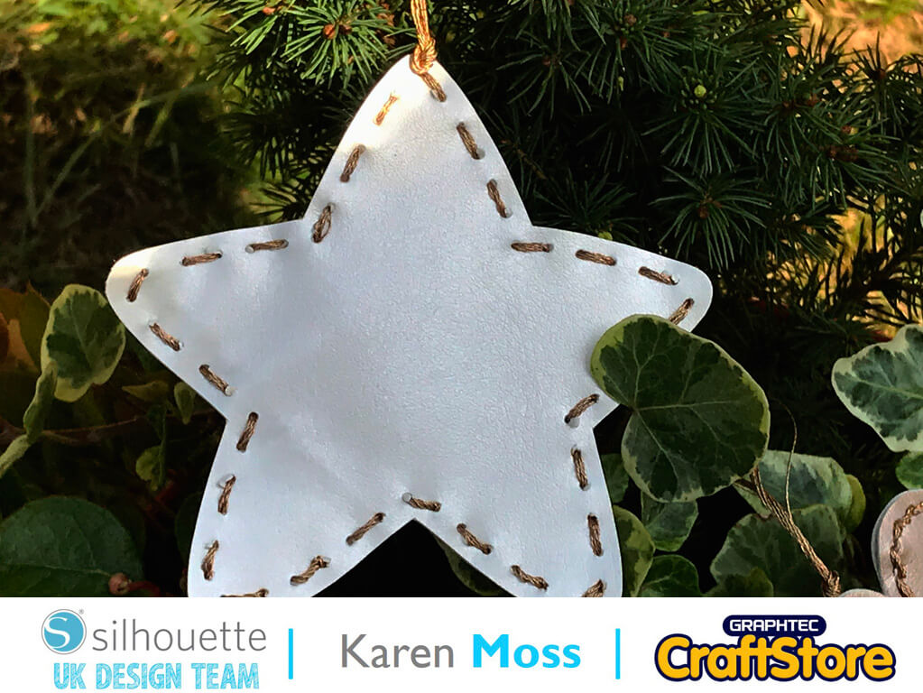 silhouette uk blog - karen moss - leatherette chirstmas decorations - c6