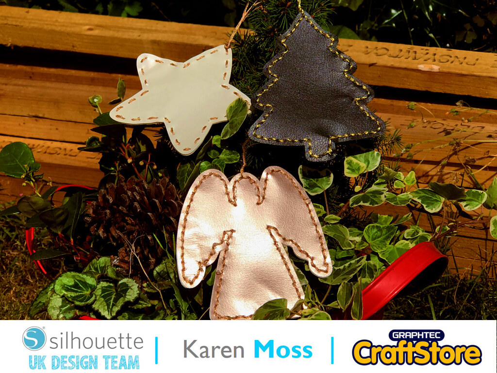 silhouette uk blog - karen moss - leatherette chirstmas decorations - main