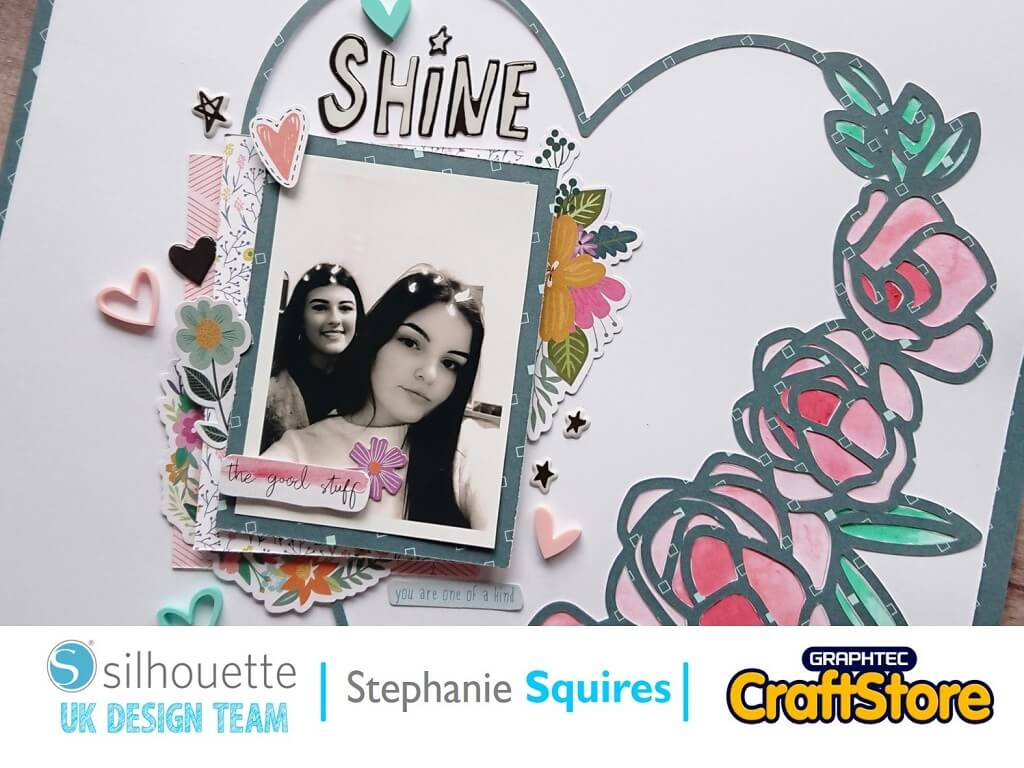 silhouette uk blog - stephanie squires - shine - scrapbooking with steph - cover