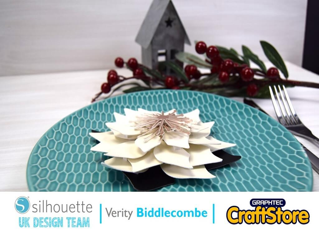 silhouette uk blog - verity biddlecombe - christmas table poinsettia decoration - cover
