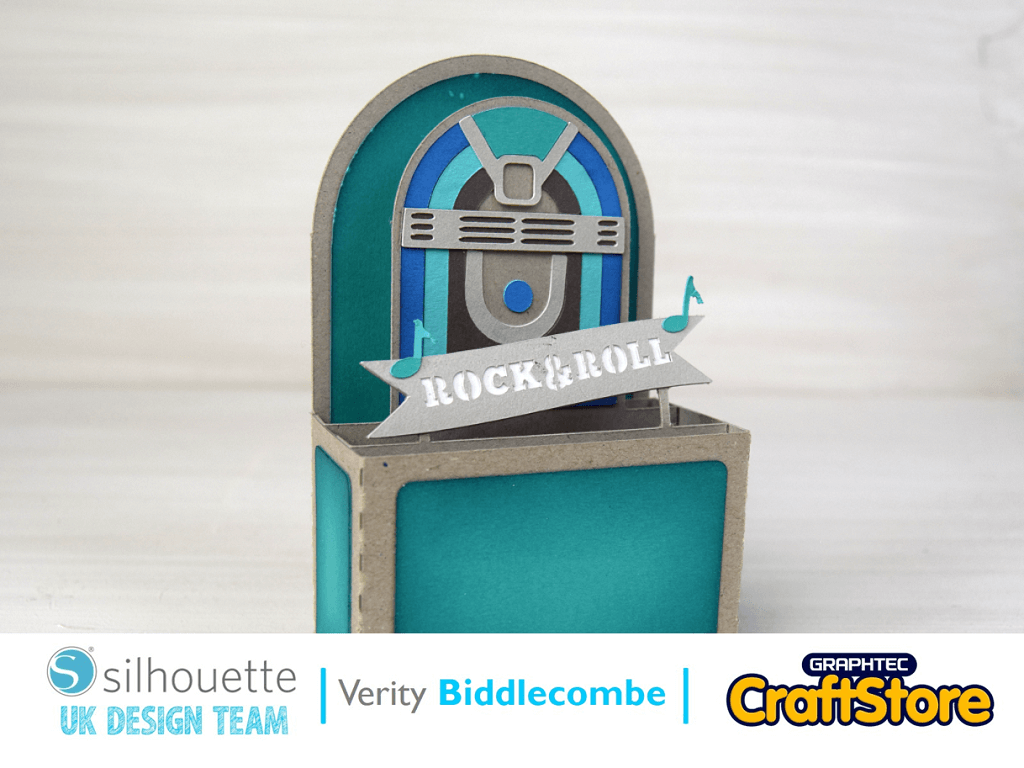 Rock 'n' Roll Jukebox Card | Verity Biddlecombe | Silhouette UK Blog