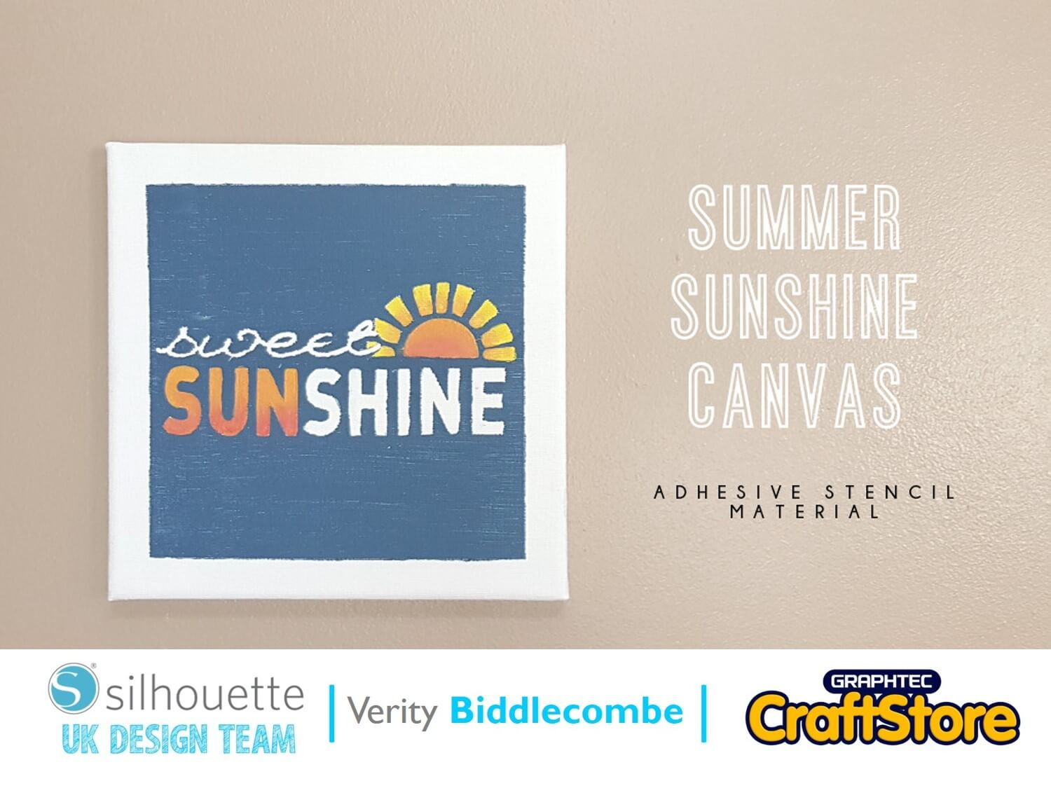 Summer Sunshine Canvas | Verity Biddlecombe | Silhouette UK Blog