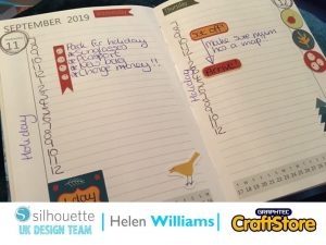 silhouette uk blog - helen williams - autumn planner stickers - sticker paper - cover