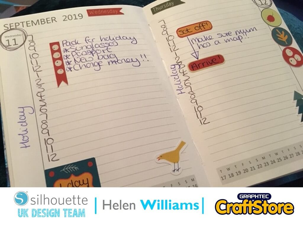 Autumn Planner Stickers | Helen Williams | Silhouette UK Blog