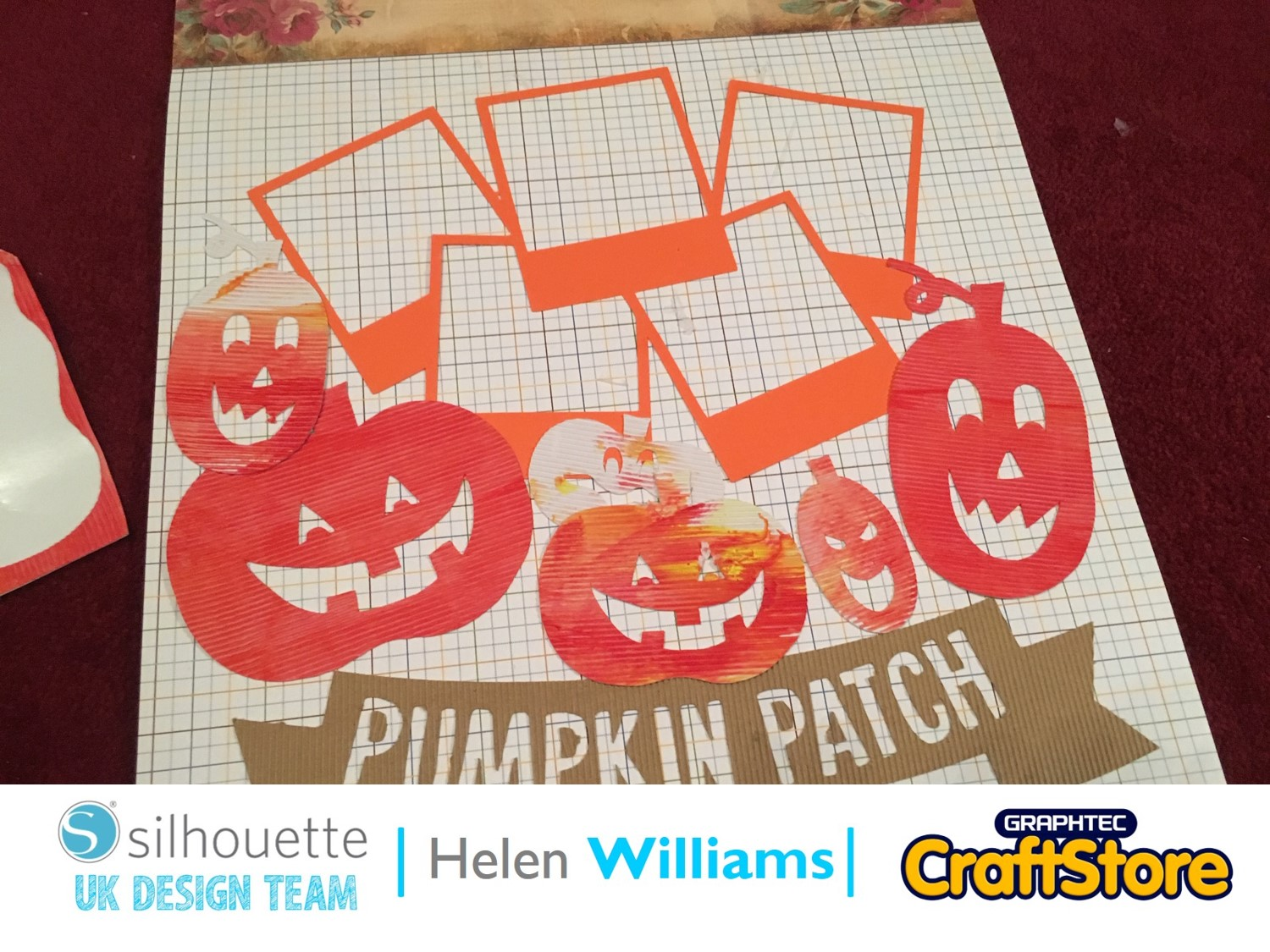 Autumn Textured Scrapbook Page | Helen Williams | Silhouette UK Blog