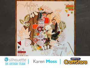 silhouette uk blog - karen moss - autumn adhesive card - cardstock - cover
