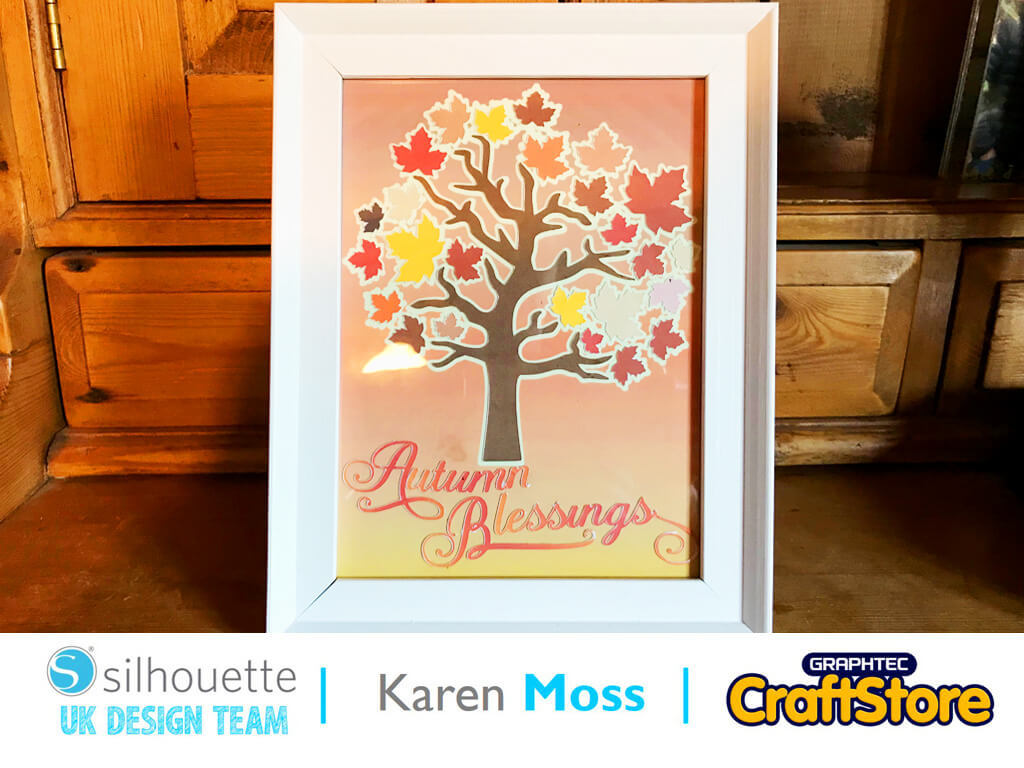 silhouette uk blog - karen moss - autumn blessings home decor - sticker sheets - main