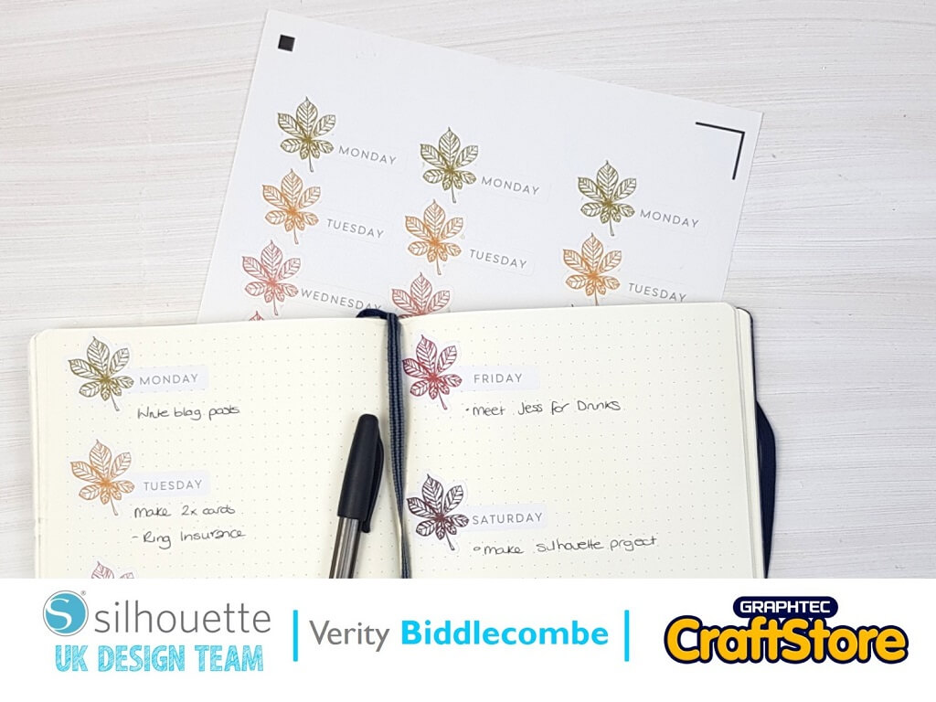 Autumnal Stickers | Verity Biddlecombe | Silhouette UK Blog