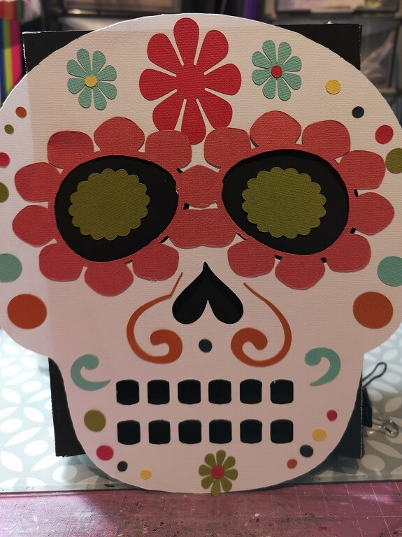 silhouette uk blog - cherylann mccool - festival of the dead - cardstock - complete