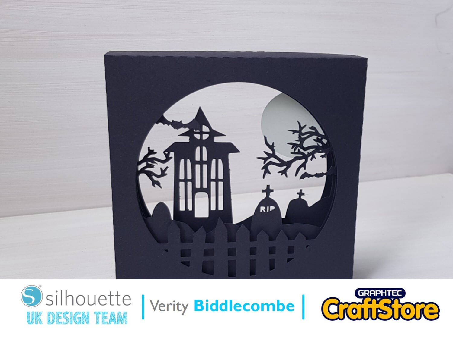 silhouette uk blog - verity biddlecombe - glow-in-the-dark - halloween scene - complete