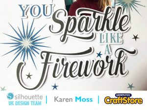 silhouette uk blog - karen moss - wc45 - glitter sticker paper - complete