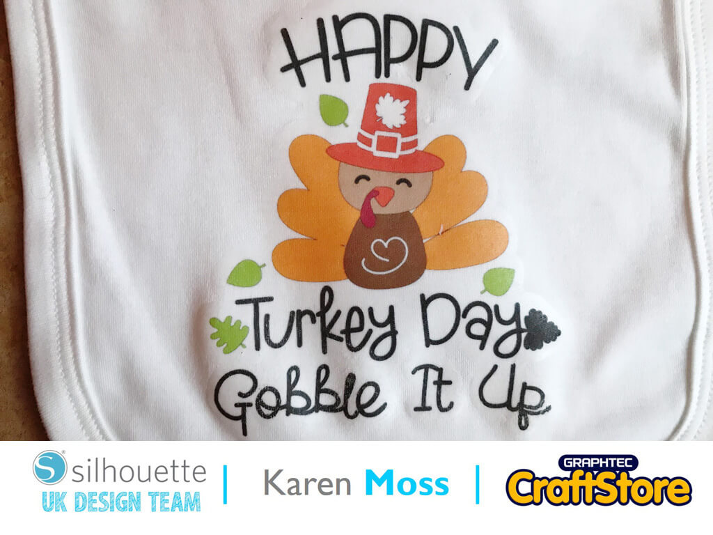 Thanksgiving Bib | Karen Moss | Silhouette UK Blog
