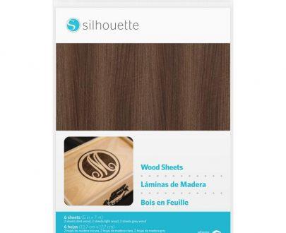 silhouette wood paper sheets