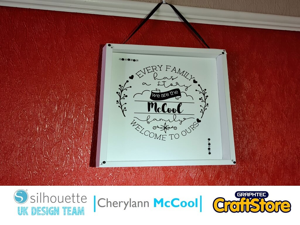 Hi it's Cheryl here again.  Who needs an excuse to play with their cameo?  We always make cards or gifts for other people, me included, but we forget that we can make things to decorate our own homes with.  So why not come and join me in making this project for your own home.